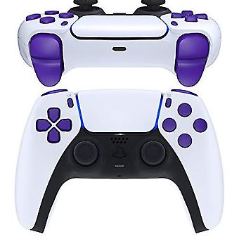 Extremerate Replacement D-pad R1 L1 R2 L2 Triggers Share Options Face Buttons For Ps5 Controller, Purple Full Set Buttons Repair Kits With Tool For Pl