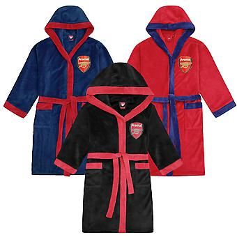 Arsenal FC Mens Dressing Gown Robe Hooded Fleece OFFICIAL Football Gift