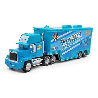 Bilar Viewzeen Racing Car Blue Trailer Truck Nr. 39 Legering Leksaksbil Modell