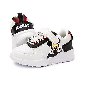 Disney Mickey Mouse Trainers For Boys & Girls | Kids Classic Character Shoelace White Sports Sneakers | Childrens Shoes Merchandise