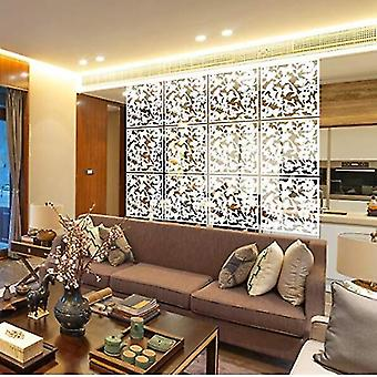 Room dividers fashion carved room hanging safety pvc panel screen 12pcs sm164604
