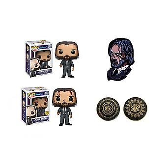 Pop-chase # 387 John Wick Doll/commemorative Coin/cartoon Brooch/collectible Model