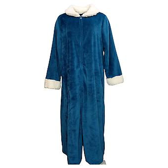 Soft & Cozy Women's Plush Zip Front Robe Blue 722547