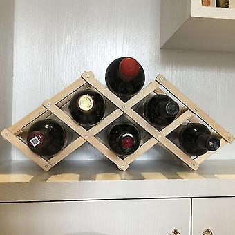 木製ワインラック/家庭用折りたたみワインボトル収納棚