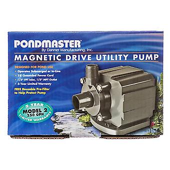 Pondmaster Pond-Mag Magnetic Drive Utility Pond Pump - Model 2 (250 GPH)