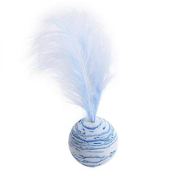 Three-piece New Exquisite Cat Toy Star Ball Plus Feather High-quality Eva Material Lightweight Foam Ball Throwing Funny Interactive Plush Toy Supplies