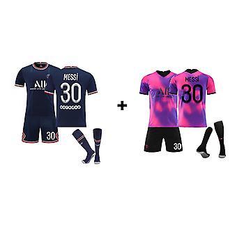 Camiseta Messi Psg, camiseta del equipo de París-messi-30, conjunto de camisetas en casa y tercera fuera de casa (talla infantil)