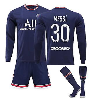 Messi Psg Jersey, Paris Team Long Sleeve-messi-30 Paris Team