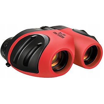 Binoculars 8x21 Telescope Folding Telescope For Children, Red
