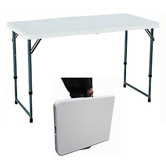 Folding Table 4ft Heavy Duty Steel Frame Foldable Portable Adjustable Height
