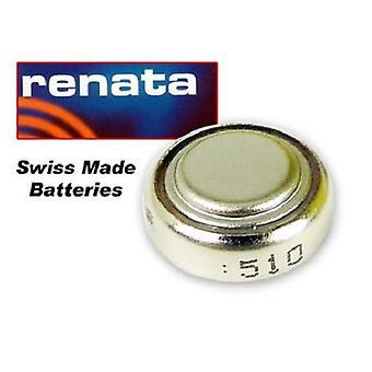 Renata Mercury Free 1.55 Volt Watch Battery 386 Replaces - Pack of 10 (SR43W)
