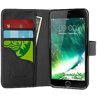 iPhone 7 tapauksessa-i-Blason [lompakon tapaus] luottokortin tunnuksen haltijoille, Apple iPhone 7 tapauksessa, musta