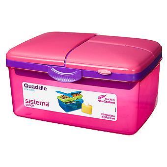 Sistema grand rose Quaddie Lunch Box 2 Ltr