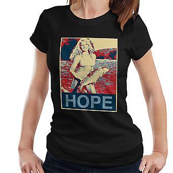 Esperanza Bikini camiseta niña Pastor Fairey estilo mujeres de pesca