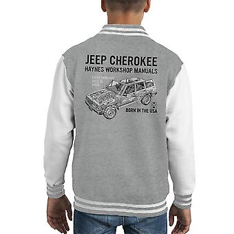 Haynes Owners Workshop Manual Jeep Cherokee Black Kid's Varsity Jacket