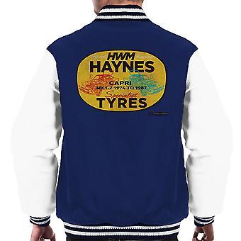 Haynes merk HWM Ford Capri Specialist banden mannen Varsity Jacket