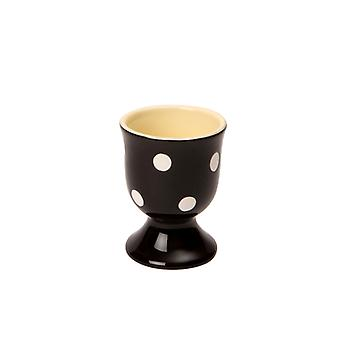 Dexam polka dot Egg Cup, negru