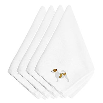 Jack Russell Terrier Embroidered Napkins Set of 4