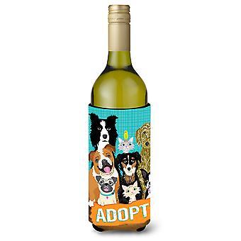 Adotar o isolador de bebida de garrafa de vinho de adopção de animais de estimação Hugger