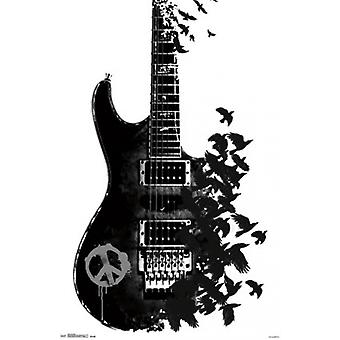 Crow guitare affiche Poster Print