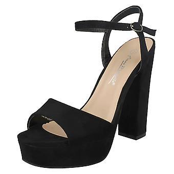 Ladies Anne Michelle High Heel Platform Sandals F10797