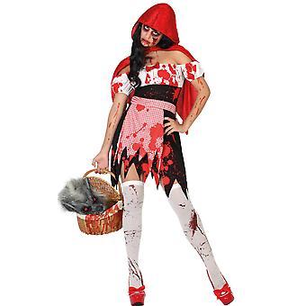Vrouwen kostuums bloedige Little Red Riding Hood kostuum