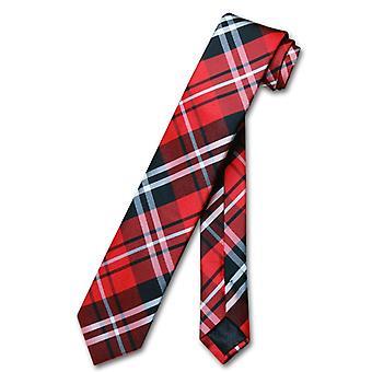 Vesuvio Napoli keskeny necktie Skinny Plaid Men ' s 2.5