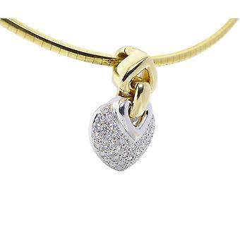 Christian white gold hearts diamond pendant