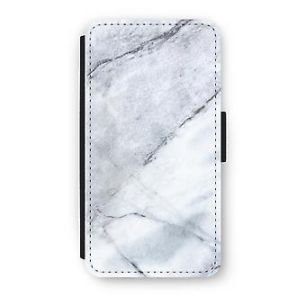 iPhone X フリップ ケース - マーブル ホワイト