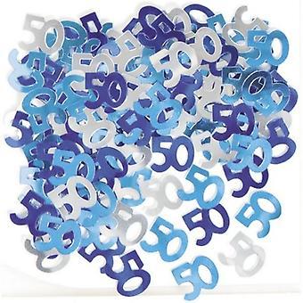 Unique Party 50th Birthday Blue Confetti
