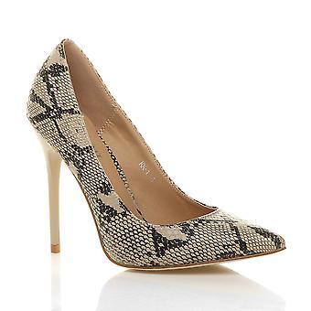 Ajvani womens haut talon fait contraste Cour parti intelligent travail chaussures pompes