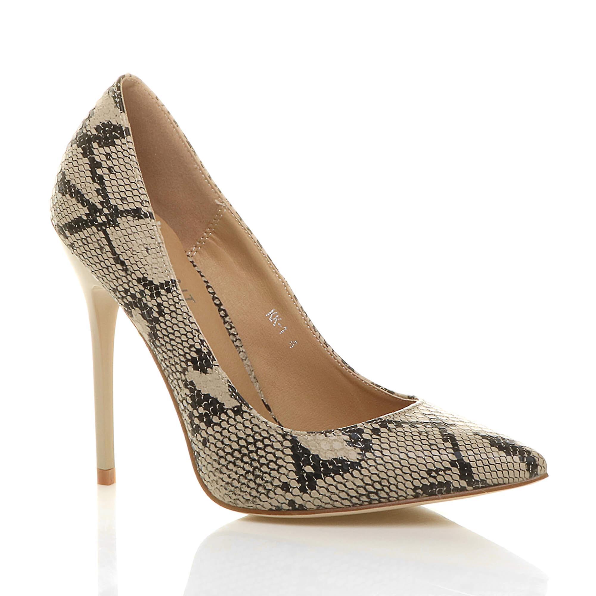 Ajvani damskie szpilki wskazał kontrast sąd smart partii pracy buty pompy YVykb