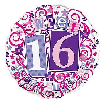 Simon Elvin 18 tums Childrens tjejer Sweet 16 blommig folie ballong