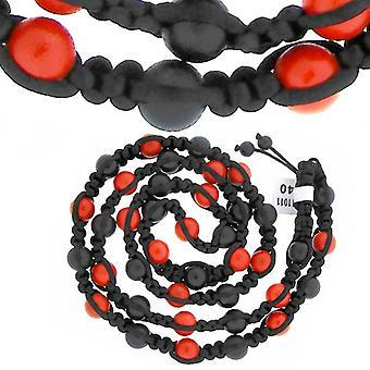 Premium PAVÉ BALL necklace - black / red
