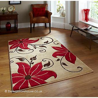 Menia Beige rood tapijt