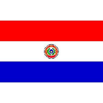 Paraguayn lippu 5 jalkaa x 3 ft (100 % Polyester) jossa