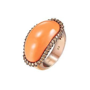 Joop kvinders ring sølv Rosé cubic zirconia KORAL JPRG90706C