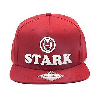 Marvel Comics jern mann Unisex Tony Stark 3D-Logo Snapback Baseball Cap én størrelse rød (SB014895IRN)