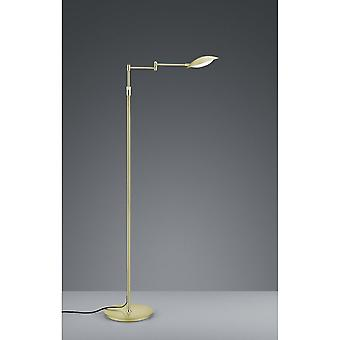 Trio Lighting Calcio Modern Brass Matt Metal Floor Lamp