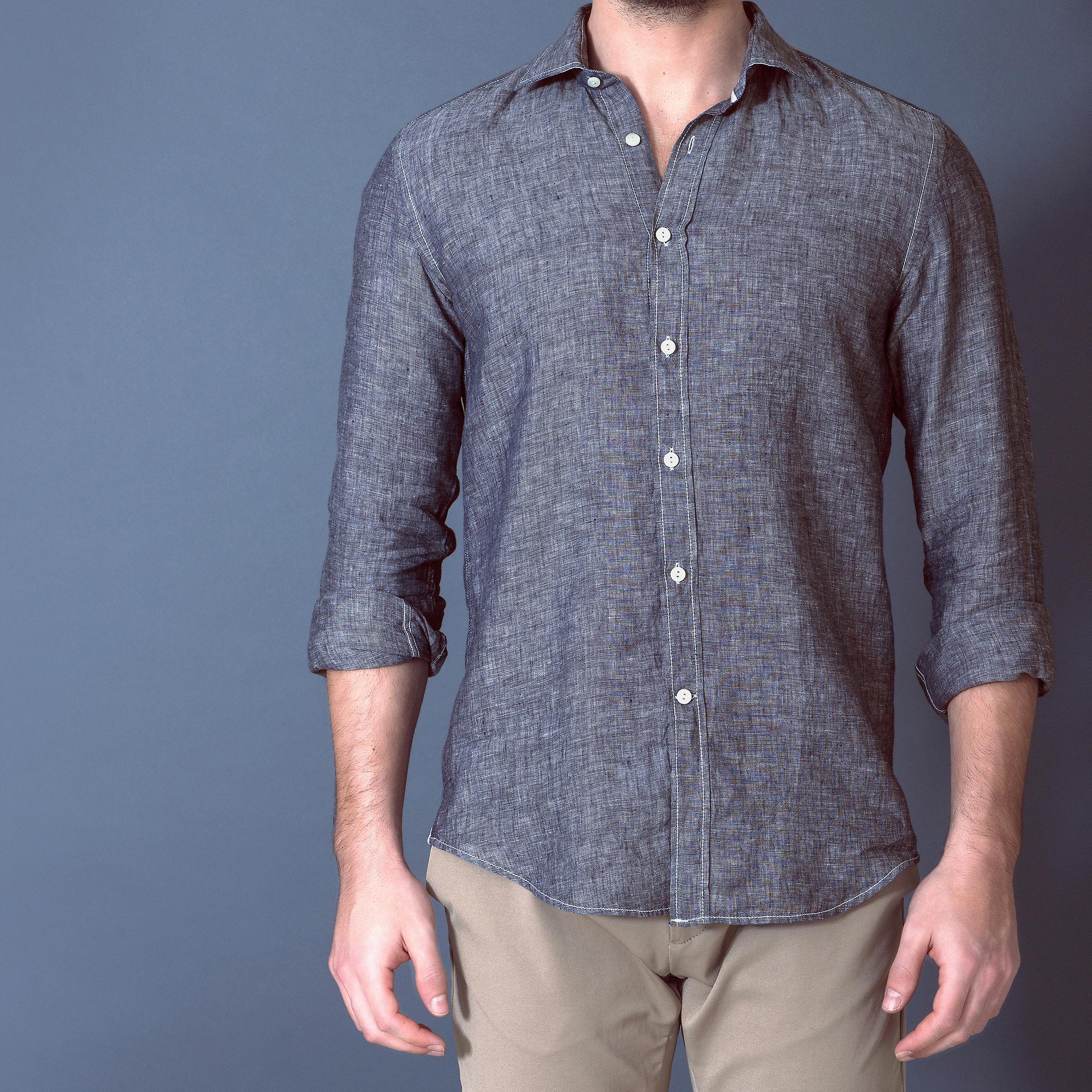 Fabio Giovanni Mercato Shirt - High Quality Italian Linen Casual Shirt