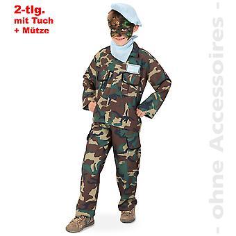 Camuflagem de crianças soldado traje de fantasia de criança Dunschelkämpfer exército