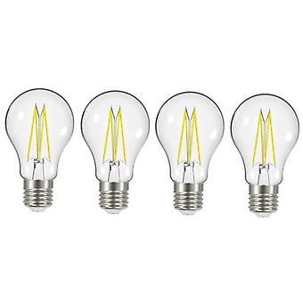 4 x Energizer 8W = 75W LED filamento GLS bombilla lámpara Vintage ES E27 clara tornillo de Edison [clase energética A +]