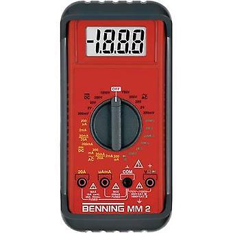 Benning MM 2 Handheld multimeter Digital CAT II 1000 V, CAT III 600 V Display (counts): 2000
