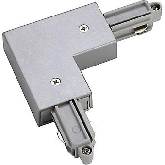 SLV 143062 High voltage mounting rail L-shape connector 1-phase Silver-grey