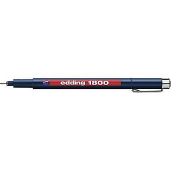 Edding 4-180001003 تحرير 1800 Fineliner الأزرق 0.25 ملم 1 جهاز كمبيوتر (أجهزة الكمبيوتر)