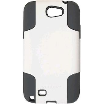 Ventev Hybrid Case Fusion Case for Samsung Note 2 (White/Gray)