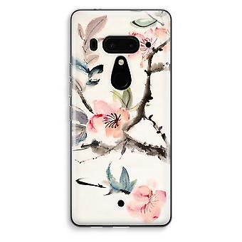 HTC U12+ Transparent Case (Soft) - Japenese flowers