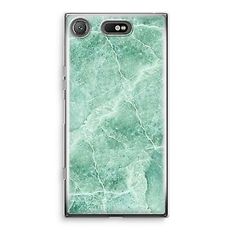 Sony Xperia XZ1 Compact Transparant cas (doux) - marbre vert