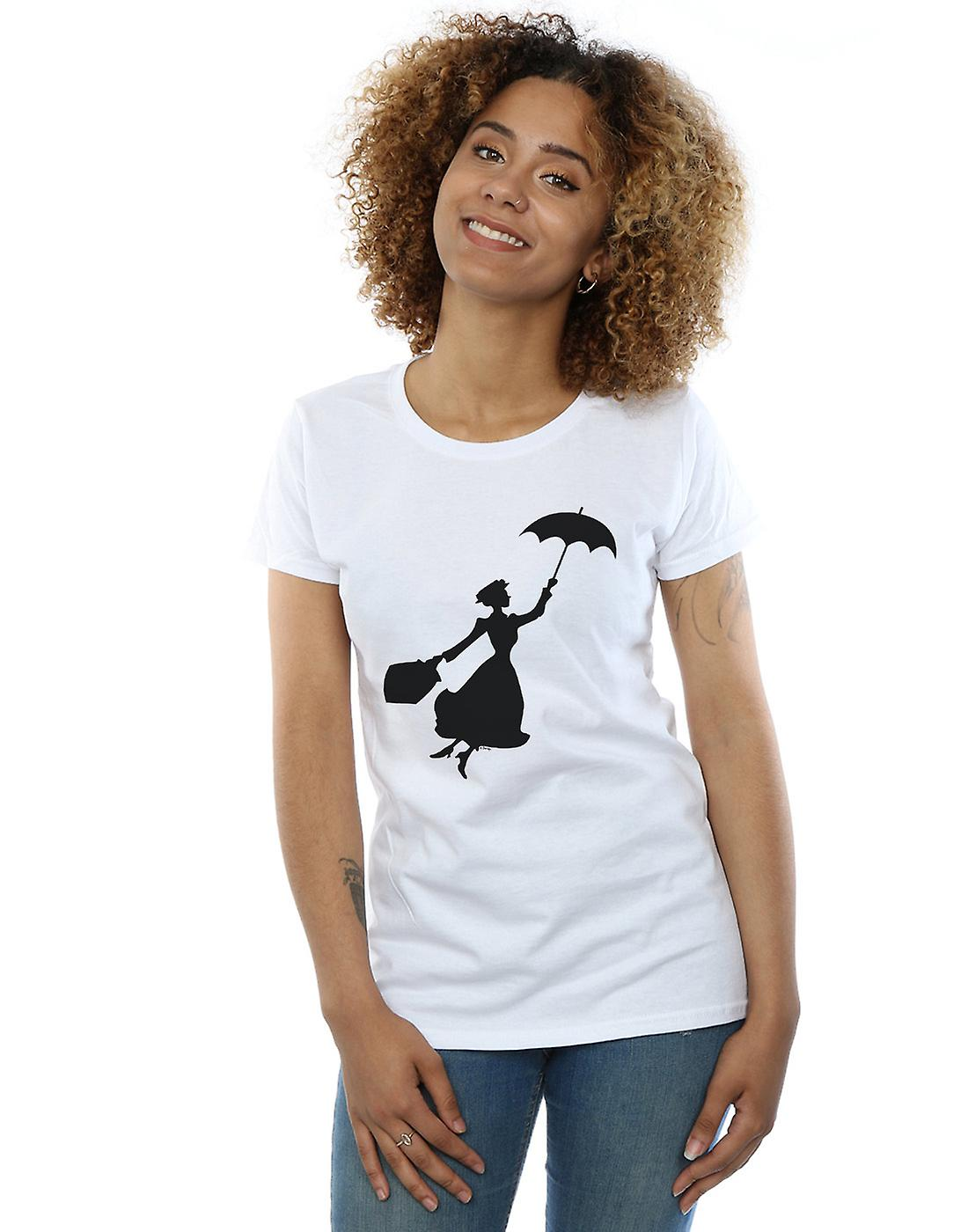 Disney Women's Mary Poppins Flying Silhouette T-Shirt