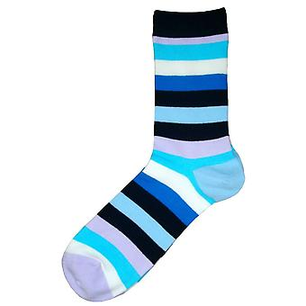 Bassin und braun Multi Stripe Socken - Blau/Multi-colour